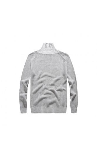 Sweter męski August jasno szary
