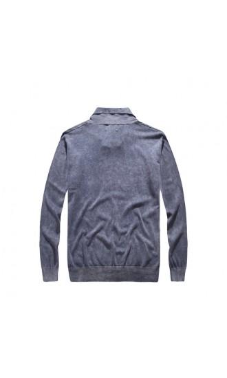 Sweter męski August jeansowy