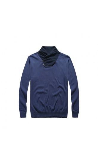 Sweter męski Benedykt niebieski
