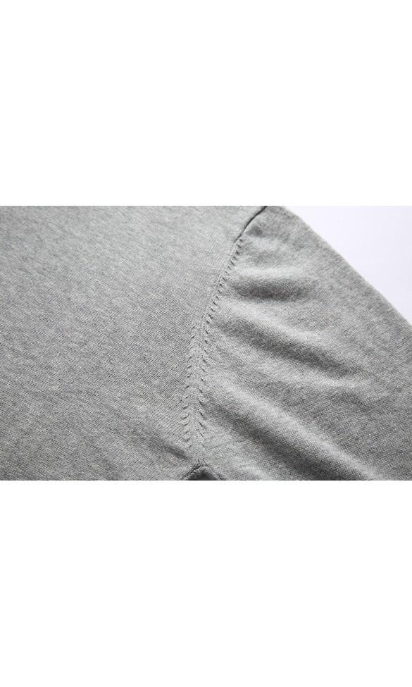 Sweter męski August jasny szary