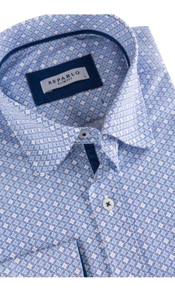 Koszula męska Hugh3 niebieska
