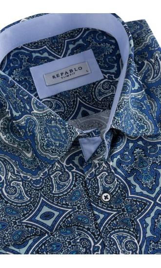 Koszula męska Irwin niebieska