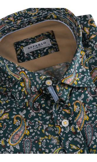 Koszula męska Irwin zielona