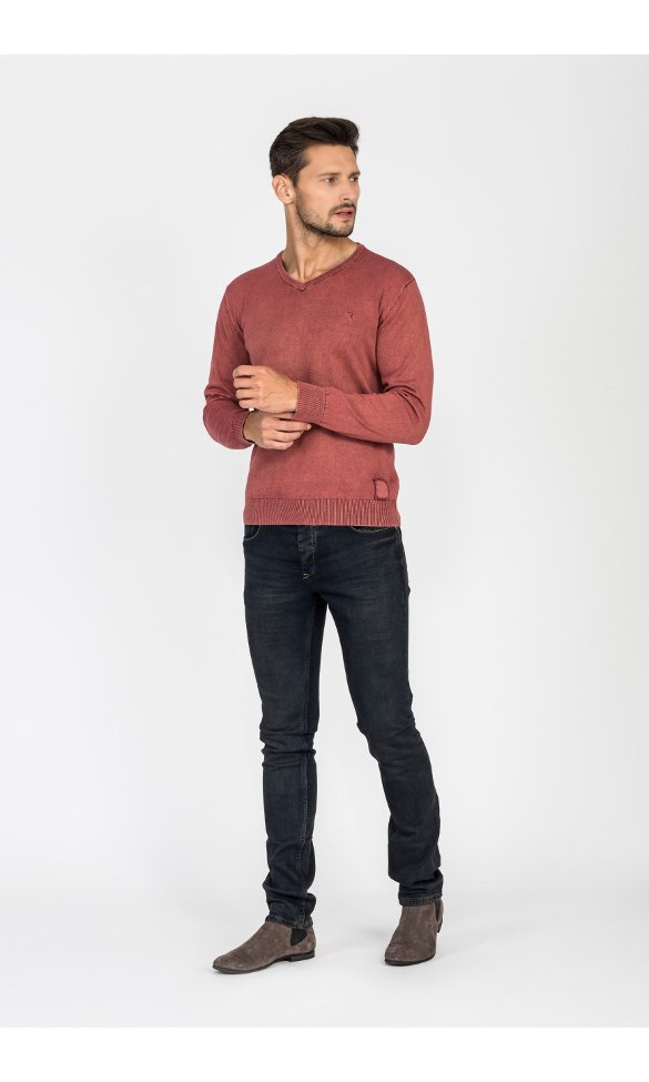 Sweter męski Vincent koralowy