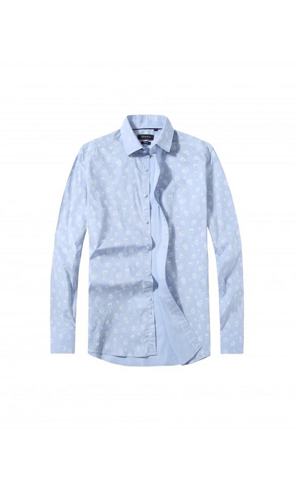 Koszula męska Mike błękitna