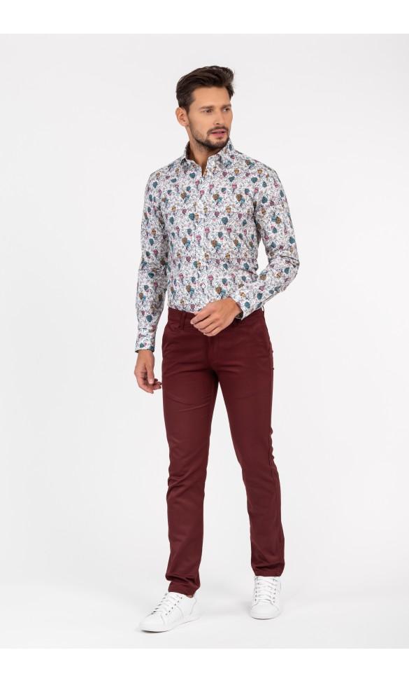 Koszula męska Nathan kolorowa z różem