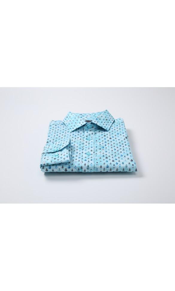 Koszula męska Michał niebieska