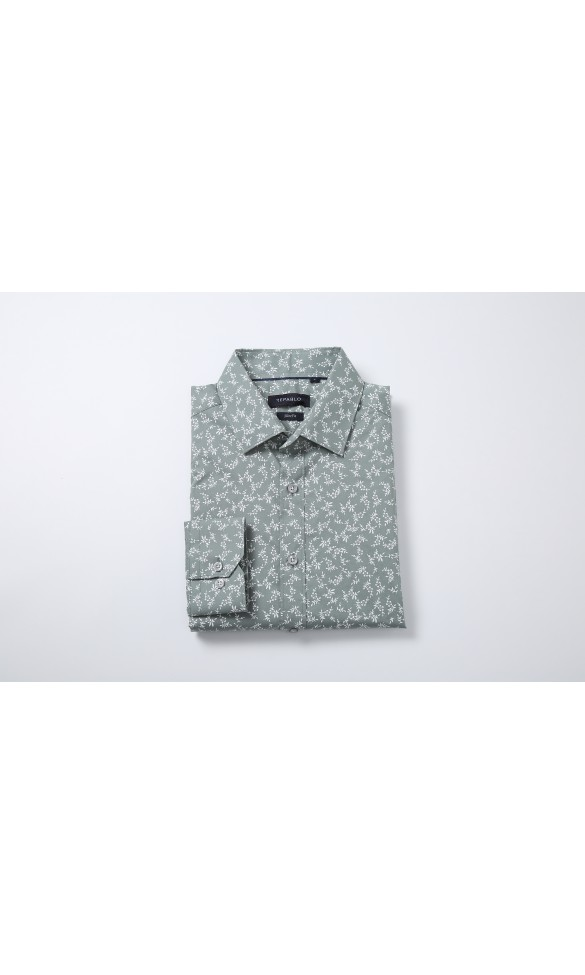 Koszula męska Leon pistacjowa