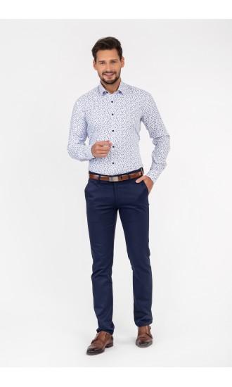 Koszula do garnituru biało niebieska