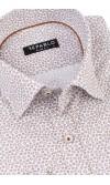Koszula męska Jakub biało brązowa