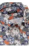 Koszula męska Gerard khaki w kwiaty