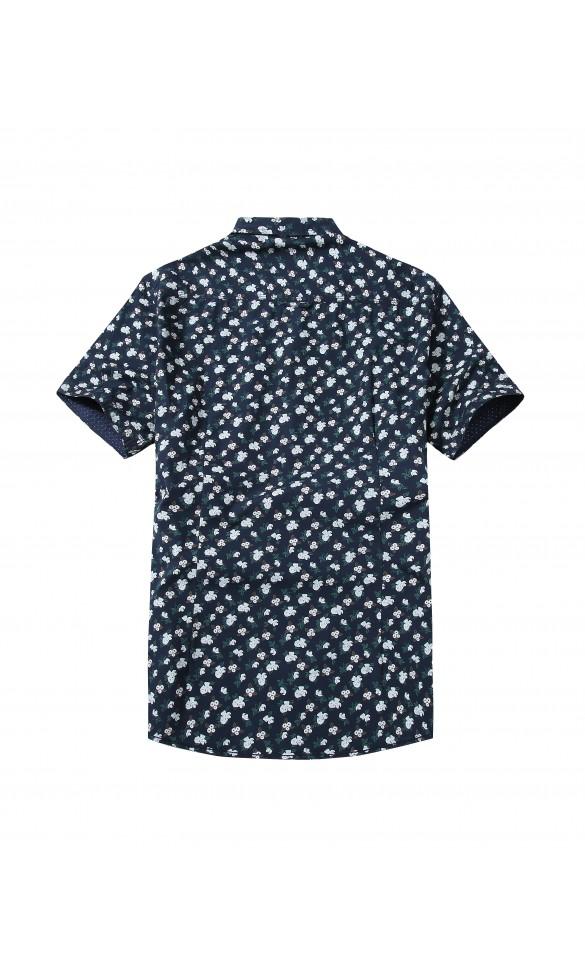 Koszula męska Kacper granatowo biała
