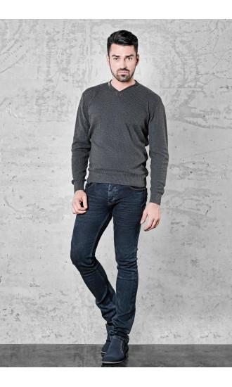 Sweter meski Martin Popielaty