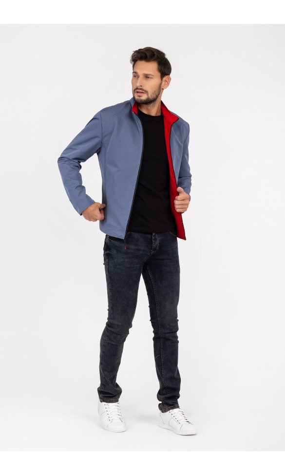 Kurtka męska Daniel czerwono-niebieska