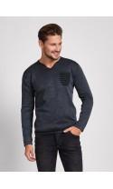 Sweter meski Hugo czarny- melanż