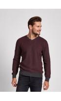 Sweter meski Samuel Bordowy